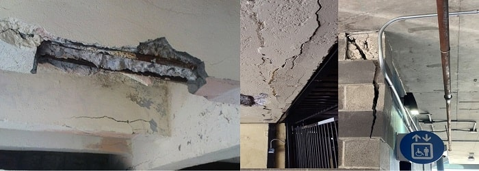 Spalling concrete damage works contractor
